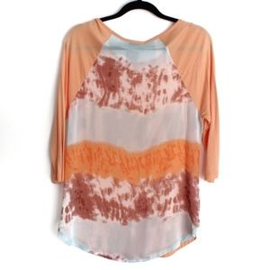 Soft Surroundings Small Sheer Back Patterned Top
